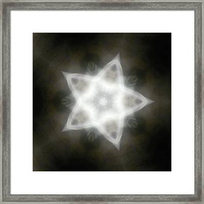 Mayan Star Framed Print by Lisa Lipsett