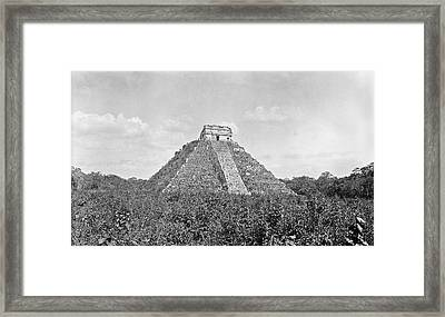 Mayan Step Pyramid Framed Print by American Philosophical Society