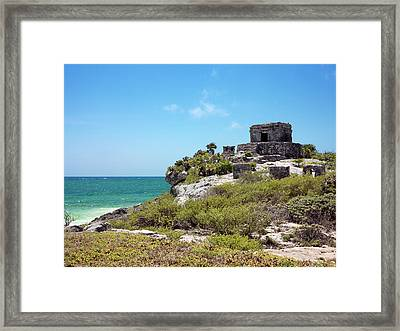 Mayan Temple Framed Print by Daniel Sambraus/science Photo Library