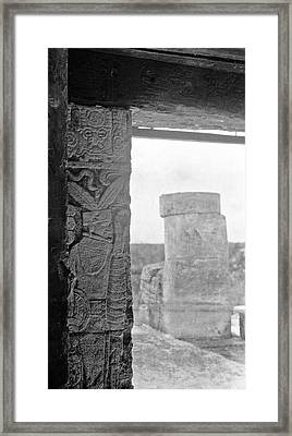 Mayan Temple Stele Framed Print by American Philosophical Society