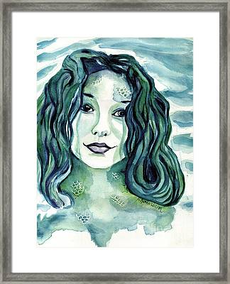 Maybe I'm A Mermaid Framed Print by D Renee Wilson