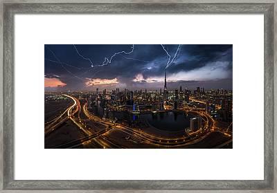 Maybe Lightning Strike Twice Framed Print