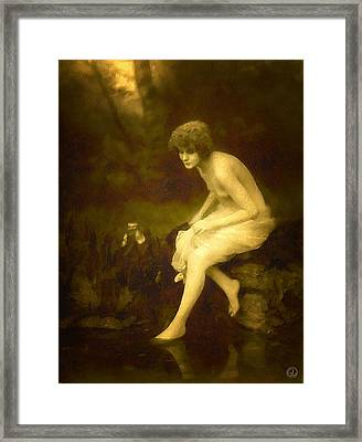 Maybe The Siren Of The Woods Framed Print