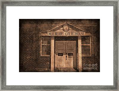 Mayberry Courthouse Framed Print by David Arment