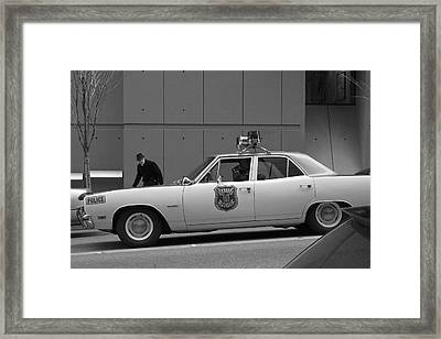 Mayberry Meets Seattle - Vintage Police Cruiser Framed Print by Jane Eleanor Nicholas