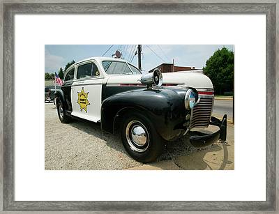 Mayberry Sheriffs Department Police Car Framed Print