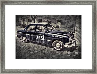 Mayberry Taxi Framed Print by David Arment