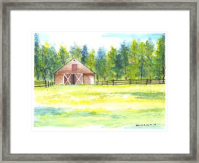 Mayberry's Barn Framed Print