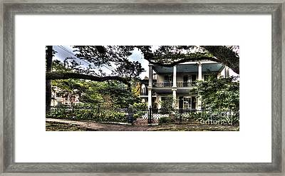 Mayfair Home On First Street Framed Print by PhotoLily Photography