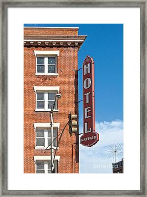 Mayfair Hotel - Pomona California Framed Print