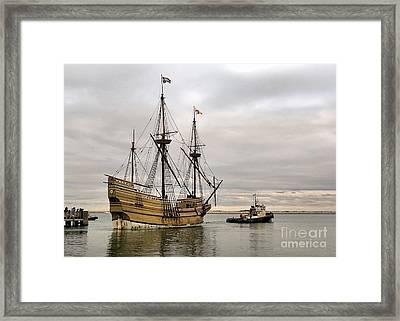 Mayflower II Under Tow 12 12 14 Framed Print by Janice Drew