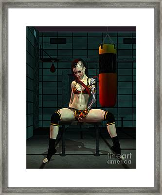 Mayhem Mags Framed Print