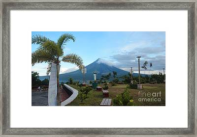 Mayon At Lignon Hill Framed Print by Manuel Cadag