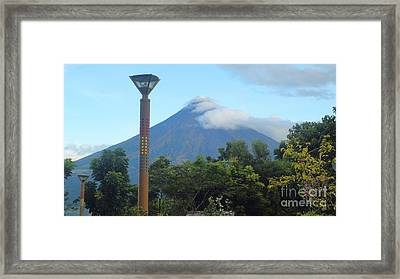 Mayon Sunrise Framed Print by Manuel Cadag