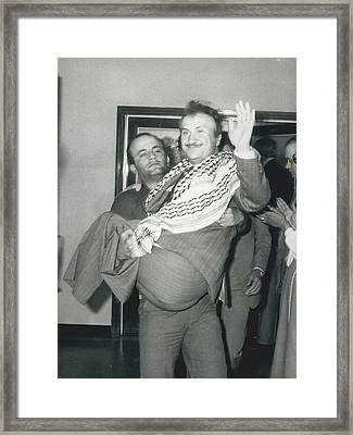 Mayor Of Israeli Occupied Nablus Arrives In London For Framed Print by Retro Images Archive