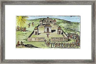 Maypole, 17th Century Framed Print by Granger