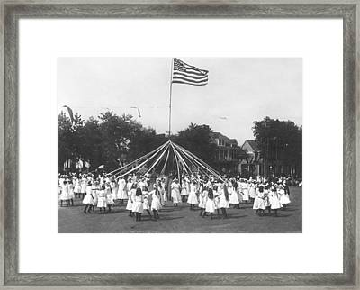 Maypole Dance Framed Print by Underwood Archives