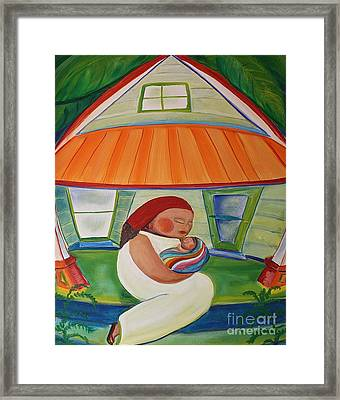 May's Baby Framed Print