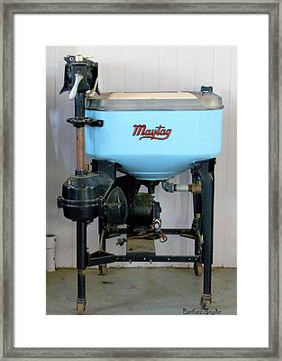 Maytag Washing Machine Framed Print by Barbara Snyder