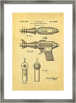 Maywald Toy Cap Gun Patent Art  2 1953 Framed Print