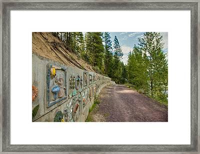 Mazama Suspension Bridge Trail Framed Print by Omaste Witkowski