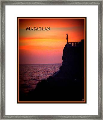 Framed Print featuring the photograph Mazatlan Diver by Heidi Manly