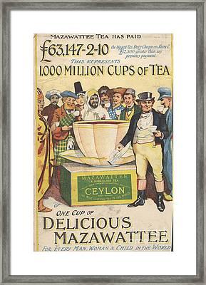 Mazawattee 1890s Uk John Bull Tea Framed Print by The Advertising Archives