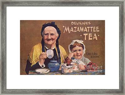 Mazawattee 1890s Uk Tea Framed Print by The Advertising Archives