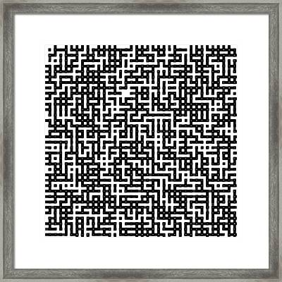 Maze Framed Print by Coal