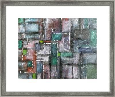Maze Framed Print by Nicholas Juhl