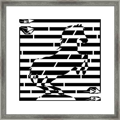 Maze Of 746 Watts 1 Horsepower Maze  Framed Print by Yonatan Frimer Maze Artist