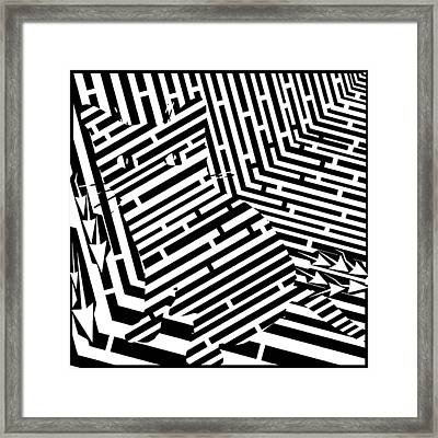 Maze Of Snarly The Cat Framed Print by Yonatan Frimer Maze Artist