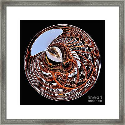 Maze Of Steel Framed Print by Kaye Menner