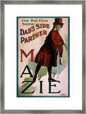 Mazie Framed Print by Terry Reynoldson