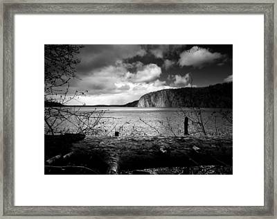Mazinaw Rock Framed Print