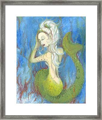 Mazzy The Mermaid Princess Framed Print