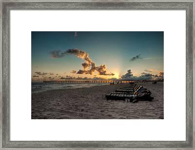 M.b. Miller County Pier Framed Print
