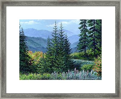 Mccoy Creek Canyon Painting Framed Print