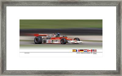 Mc Laren M23 Hunt Framed Print