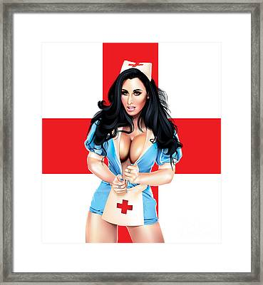 Framed Print featuring the drawing Mc Nurse V2 by Brian Gibbs