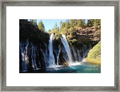 Framed Print featuring the photograph Mcarthur-burney Falls 1 by Debra Thompson