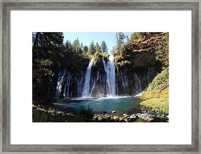 Framed Print featuring the photograph Mcarthur-burney Falls 2 by Debra Thompson