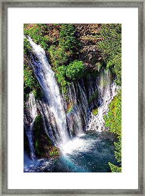 Mcarthur Burney Falls Rainbow Framed Print