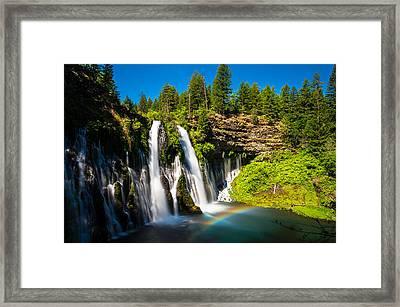 Mcarthur Burney Falls Framed Print by Scott McGuire
