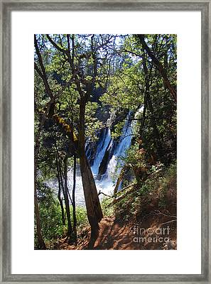 Framed Print featuring the photograph Mcarthur-burney Falls Side View by Debra Thompson