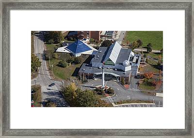 Mcauliffe-shepard Discovery Center Framed Print by Dave Cleaveland