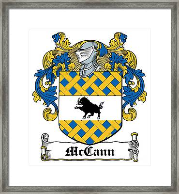 Mccann Coat Of Arms Armagh Ireland Framed Print by Heraldry
