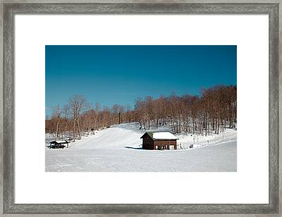 Mccauley Mountain Ski Area - Old Forge New York Framed Print by David Patterson