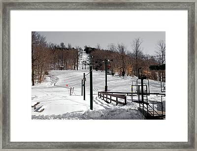 Mccauley Mountain Ski Area Vi- Old Forge New York Framed Print by David Patterson