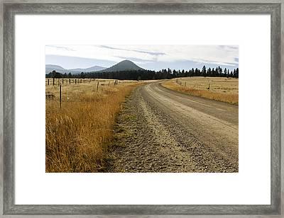 Mcclellan Creek Rd Helena Montana Framed Print by Dana Moyer